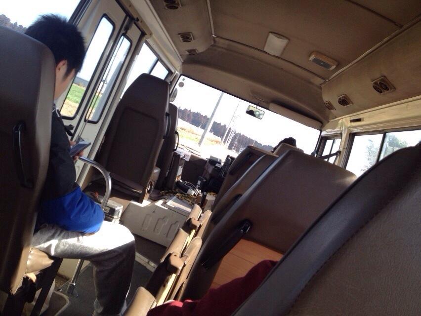 帰りのバスの中